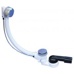 Выпуск-полуавтомат HL (Hutterer Lechner) 555N для ванн с переливом и поворотным шарниром DN 40/50