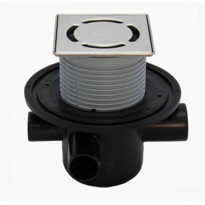 Трап HL (Hutterer Lechner) 304-3000 с обратным клапаном, решеткой из нерж стали Klik-Klak