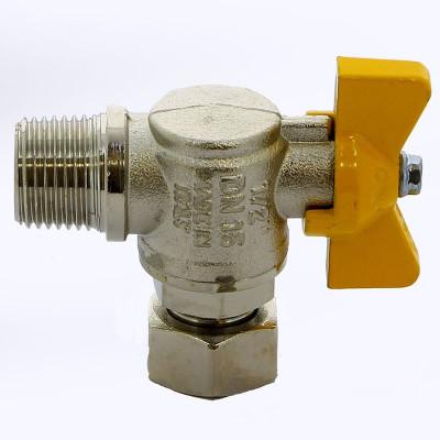 Кран шаровой ITAP 062 для газа НВ накидная гайка угловой бабочка