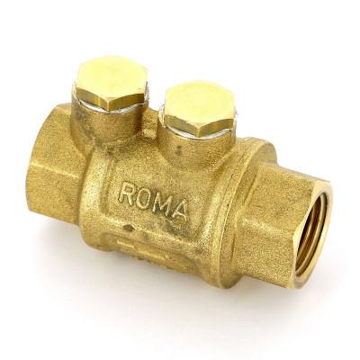 Клапан обратный ITAP 104 пружинный ROMA с металлическим затвором
