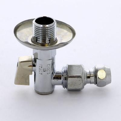 """Кран ITAP 386 шаровой угловой с фильтром розеткой и шарнирным соединением для медной трубки 10х1/2"""""""