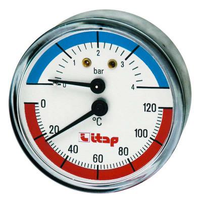 """Термоманометр аксиальный ITAP 4 бар осевое подключение 1/2"""""""