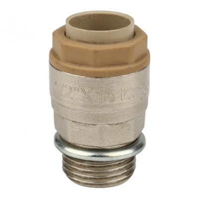 Соединение прямое ITAP 618 HP никелированное с уплотнительным концом 1/2х16